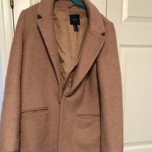 Camel long peacoat